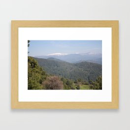 Distant Snow Topped Moutains from Cicekli Ula Framed Art Print