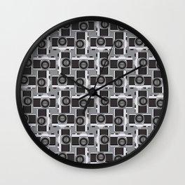 35mm Camera Pattern Wall Clock