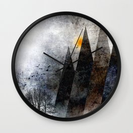TREES under MAGIC MOUNTAINS VIII-c Wall Clock