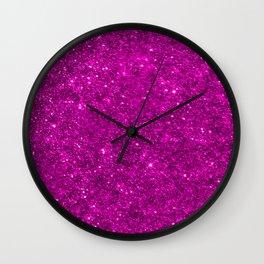 Glitter Pink Wall Clock