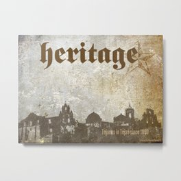 Tejano Heritage Poster Metal Print