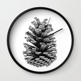 Pinecone Black and White Wall Clock