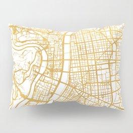 LYON FRANCE CITY STREET MAP ART Pillow Sham