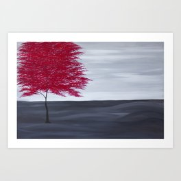 Red Tree Art Print
