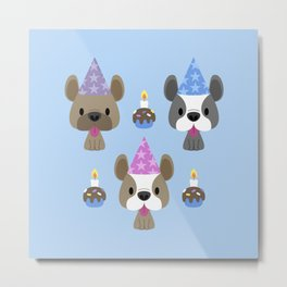 French bulldog birthday party Metal Print