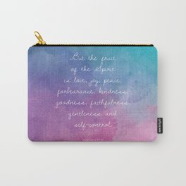 Galatians 5:22-23, Fruit of the Spirit Scripture Quote Carry-All Pouch