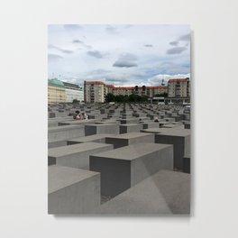 Berlin Jewish Memorial - Color  Metal Print