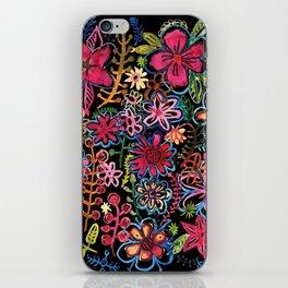 Meadow on black iPhone Skin