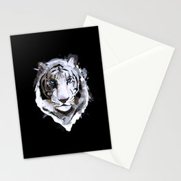 White Tiger with Blue Eyes Stationery Cards