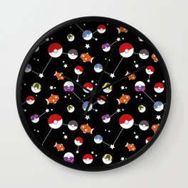 Magikarp pokeballs starry sky Wall Clock