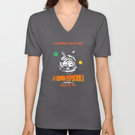 El Chango Espacial Grindhouse Poster Unisex V-Neck