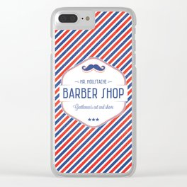 Mr. Moustache Barber Shop Clear iPhone Case