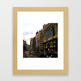 Gran Vía - Madrid Framed Art Print