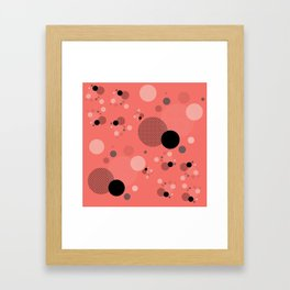 Coral Dots Framed Art Print