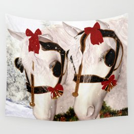 Snowflake and Holly Wall Tapestry
