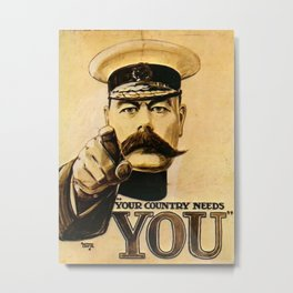 Your Country Needs You Lord Kitchener Metal Print