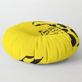 Judging Giraffe Floor Pillow