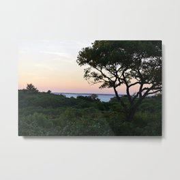 When the Night Sky Touches the Ocean Metal Print