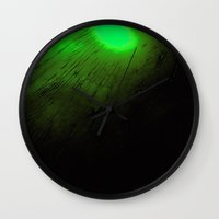nick cave Wall Clocks featuring Cave by RDKL, Inc.