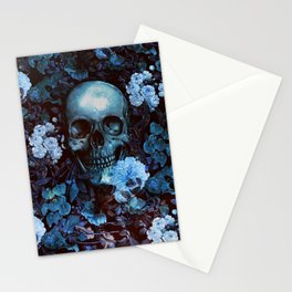 Skull and Flowers Stationery Cards