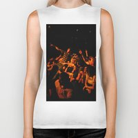it crowd Biker Tanks featuring The crowd by Old Sole Studio