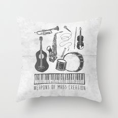 Weapons Of Mass Creation - Music (on paper) Throw Pillow