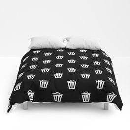 trash can pattern Comforters