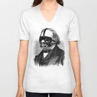 bdsm V-neck T-shirts featuring BDSM XXIX by DIVIDUS