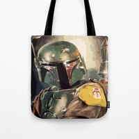 boba Tote Bags featuring Boba  by Iris Chadab