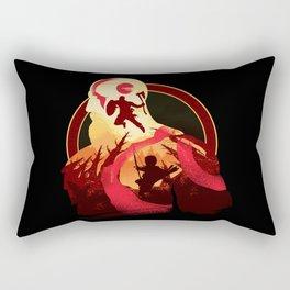 Kratos and Boy Rectangular Pillow