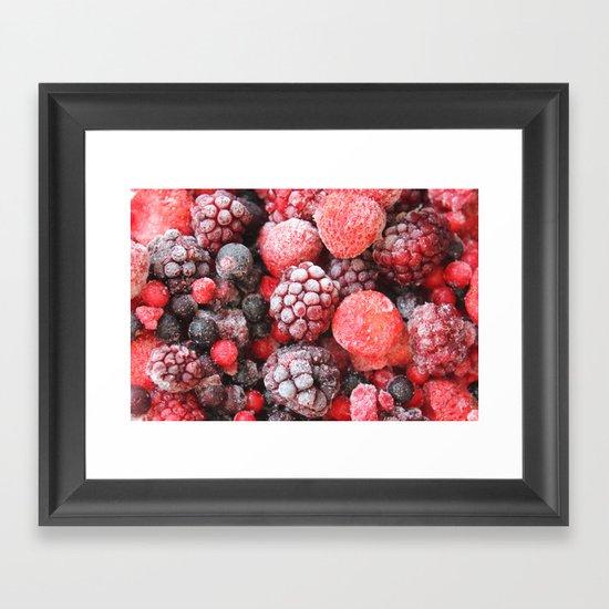 Frozen Berries Framed Art Print