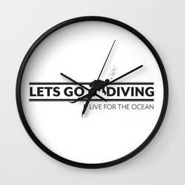 Lets Go Diving Wall Clock
