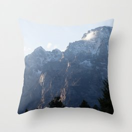 Morning cloud on the mountain Throw Pillow