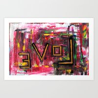 LOVE BACKWARDS Art Print