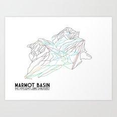 Marmot Basin, Alberta, Canada - Minimalist Trail Art Art Print