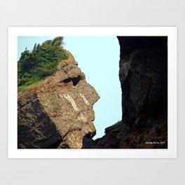Indian Head Rock Art Print