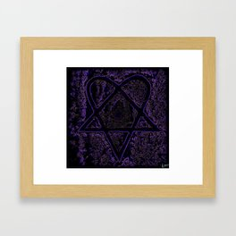 Nightmare Heartagram Framed Art Print