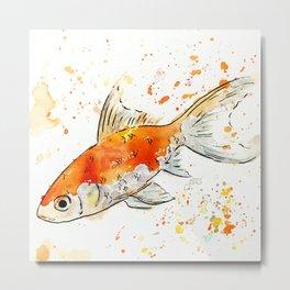 Fancy Goldfish Original Art Design Metal Print