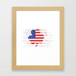 Irish American Map Framed Art Print