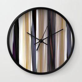 abstract striped pattern Wall Clock