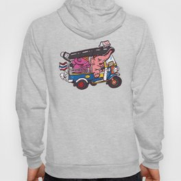 Elephant riding tuktuk Hoody