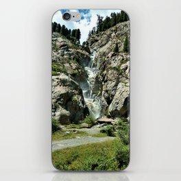 waterfall rope bridge kaunertal alps tyrol austria europe 2 iPhone Skin