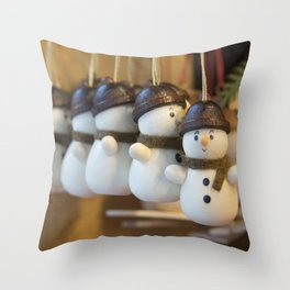 Ickle Snowmen Throw Pillow