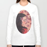 snow white Long Sleeve T-shirts featuring Snow White by Sarah Larguier