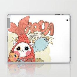 Aqua cat_ Rappa Laptop & iPad Skin