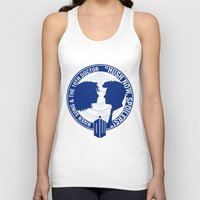 river song Tank Tops featuring Doctor Who pals: The 10th doctor & River Song by logoloco
