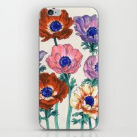 poppies iPhone & iPod Skins featuring poppies by Ania