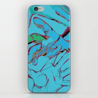 hands iPhone & iPod Skins featuring Hands by Neave Lifschits