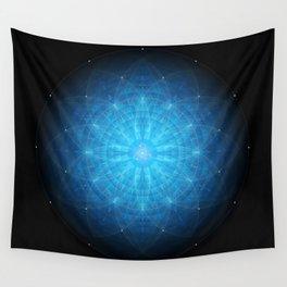 crystal mind. sacred geometry mandala Wall Tapestry