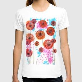 Retro spring flowers T-shirt